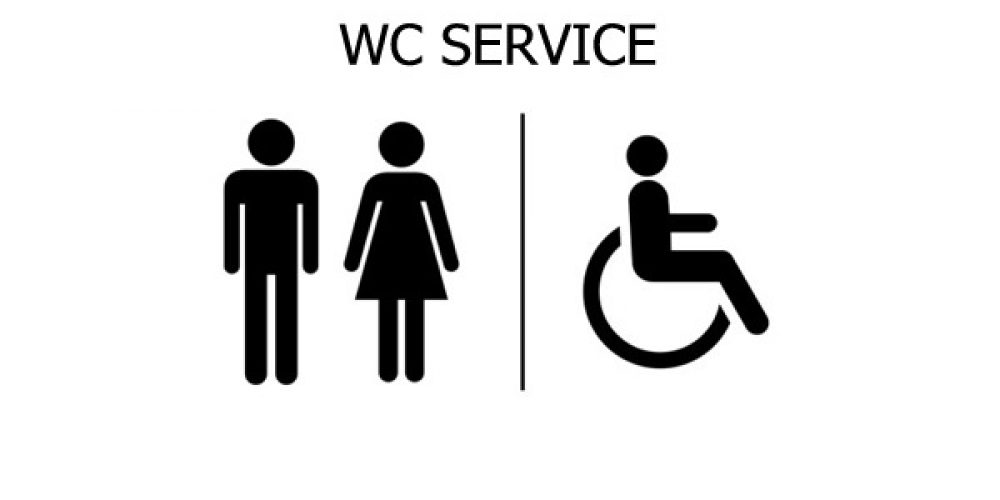 TOILET WITH ACCESS FOR DISABLED